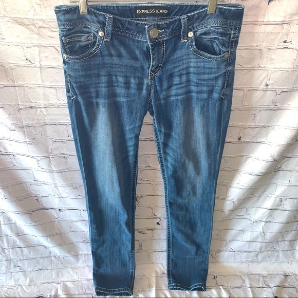 Express Jeans Skinny Low Rise S: 8R